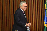 BRASÍLIA, DF, 20.06.2016 – TEMER-GOVERNADORES – O presidente em exercício Michel Temer durante reunião com Governadores, na tarde desta segunda-feira, 20, no Palácio do Planalto. (Foto: Ricardo Botelho/Brazil Photo Press)