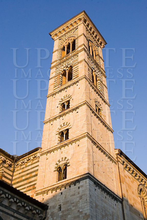 Il campanile del Duomo di Prato.<br /> The belltower of the Cathedral of Prato.<br /> UPDATE IMAGES PRESS/Riccardo De Luca