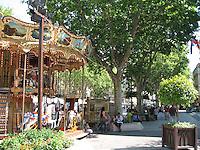 A carousel in Avignon