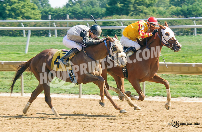 Ira winning at Delaware Park on 9/19/15