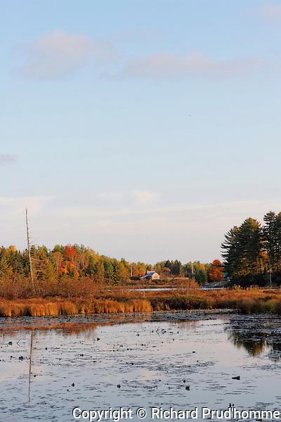 Cabin at end of lake