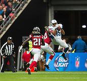 26.10.2014.  London, England.  NFL International Series. Atlanta Falcons versus Detroit Lions. Lions' WR Golden Tate [15] catches a pass.