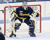 Joe Cannata (Merrimack - 35) - The visiting Merrimack College Warriors defeated the Northeastern University Huskies 4-3 (OT) on Friday, February 4, 2011, at Matthews Arena in Boston, Massachusetts.