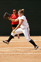 SAN ANTONIO, TX - MARCH 8, 2009: The University of Texas of the Permian Basin Falcons vs. The University of the Incarnate Word Cardinals Softball at Cardinals Field. (Photo by Jeff Huehn)