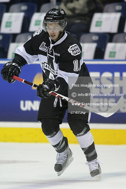 QMJHL (LHJMQ) hockey profile photo on Blainville-Boisbriand Armada Marc-Olivier Roy February 19, 2013 at the Colisee Pepsi in Quebec city.