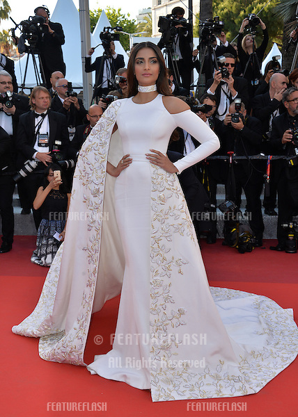 Actress Sonam Kapoor at the gala premiere of &quot;From the Land of the Moon&quot; (&quot;Mal de Pierres&quot;) at the 69th Festival de Cannes.<br /> May 15, 2016  Cannes, France<br /> Picture: Paul Smith / Featureflash