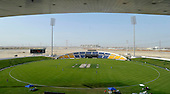 T20 World Cup Qualifying match - Scotland V Namibia at the Sheikh Zayed Stadium - Abu Dhabi - the view from high up in the stadium - like an oasis in the desert - Scotland lost by 49 runs - Picture by Donald MacLeod  14.3.12  07702 319 738  clanmacleod@btinternet.com
