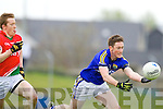 Johnathon Lyne Kerry in action against Donal Vaughan Mayo in the National Football League in Austin Stack Park on Sunday..