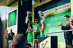 Peter Sagan (SVK) Bora-Hansgrohe retains the points Green Jersey at the end of Stage 8 of the 2019 Tour de France running 200km from Macon to Saint-Etienne, France. 13th July 2019.<br /> Picture: ASO/Thomas Maheux | Cyclefile<br /> All photos usage must carry mandatory copyright credit (© Cyclefile | ASO/Thomas Maheux)
