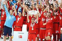Philipp Lahm alza il trofeo <br /> Monaco 23.05.2015, Allianz Arena<br /> Bundesliga Bayern Monaco Campione di Germania 2014/2015 <br /> Foto EXPA/ Eibner-Pressefoto/ Insidefoto