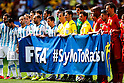 Two team group, JULY 5, 2014 - Football / Soccer : FIFA World Cup Brazil 2014 Quarter-finals match between Argentina 1-0 Belgium at Estadio Nacional in Brasilia, Brazil. (Photo by D.Nakashima/AFLO)
