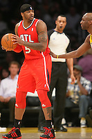 02/22/11 Los Angeles, CA: Atlanta Hawks power forward Josh Smith #5 during an NBA game between the Los Angeles Lakers and the Atlanta Hawks at the Staples Center. The Lakers defeated the Hawks 104-80.