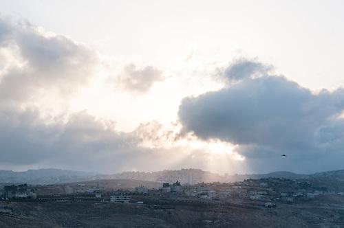 Bethlehem, Palestine, Avril 2011. Au fond, la colonie de Har Homa.