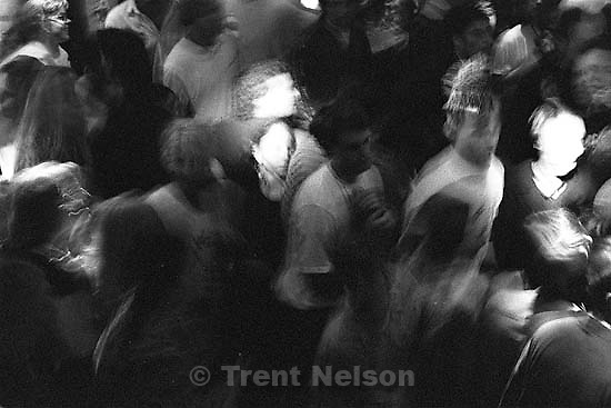 Crowd dancing at Bad Manners at the Zephyr Club.<br />
