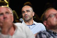 20190827 – BRUSSELS , BELGIUM :  head coach of the Belgian men's team the Red Devils Roberto Martinez pictured during the women 's Football Summit , a summit where the Belgian Football Association KBVB uncover their plans for the future of women soccer in Belgium , tuesday 27 th August 2019 at the Brussels Expo Auditorium 2000  , Belgium  .  PHOTO SPORTPIX.BE   DAVID CATRY