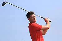 Devin Morley (Oughterard) on the 3rd tee during Round 4 of the East of Ireland Amateur Open Championship 2018 at Co. Louth Golf Club, Baltray, Co. Louth on Monday 4th June 2018.<br /> Picture:  Thos Caffrey / Golffile<br /> <br /> All photo usage must carry mandatory copyright credit (&copy; Golffile | Thos Caffrey)