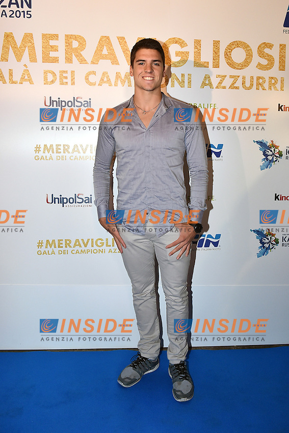 Giorgio Minisini <br /> Roma 28-09-2015 Via Veneto. Meravigliosi Gala' dei Campioni organizzato dalla FIN, Federazione Italiana Nuoto per festeggiare i successi dei Mondiali di Kazan 2015 . Party of the swimming italian federation. Foto Andrea Staccioli / Insidefoto