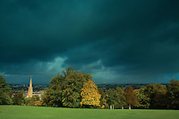 Storm clouds over Glasgow from Queen's Park, Glasgow