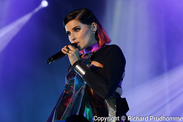 Montreal, Canada. 18/08/2017  Canadian singer Nelly Furtado performs on stage for the Canada Pride Montreal 2017 free outdoor concert.