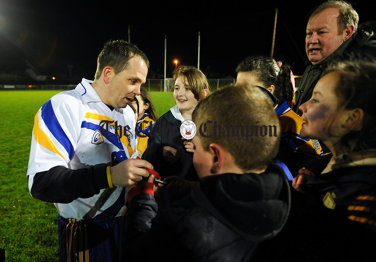 David Fitzgerald signs autographs after the game against Kilkenny in Sixmilebridge. Photograph by John Kelly.