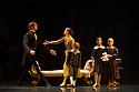 "London, UK. 01.07.2014.  New English Ballet Theatre present an evening of five premieres, entitled TRYST: DEVOTION & BETRAYAL, at the Peacock Theatre. the dancers are: Gyorgy Baan, Joshua Barwick, Lorenzo Bernardi, Hayley Blackburn, Niklas Blomqvist, Christina Ceccini, Jessica Clyde, Ludovico di Ubaldo, Matthieu Quincy, Mercedes Schindler, Yvonne Slingerland, Silas Stubbs, Francesca Tennant, Justine Wisznia. The piece shown is  ""The Kreutzer Sonata"" by Andrew McNicol. Photograph © Jane Hobson."