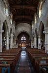Inside village parish church of Saint Andrew, Mells, Somerset, England, UK