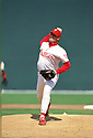 CIRCA 1994: Curt Schilling #20 of the Philadelphia Phillies pitching during a game 1994 season with the Philadelphia Phillies. Curt Schilling played for 20 seasons with 5 different teams and was a 6-time All-Star.(Photo by: 1998 SportPics)  *** Local Caption *** Curt Schilling