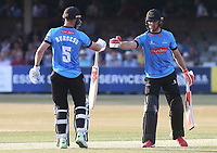 Michael Burgess and Laurie Evans enjoy a useful partnership for Sussex during Essex Eagles vs Sussex Sharks, Vitality Blast T20 Cricket at The Cloudfm County Ground on 4th July 2018