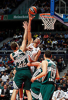 21/02/2014<br /> EUROLEAGUE BASKETBALL<br /> REAL MADRID - ZALGIRIS<br /> 50 SALAH MEJRI Center (REAL MADRID) <br /> 22 KUPSAS Center (ZALGIRIS)