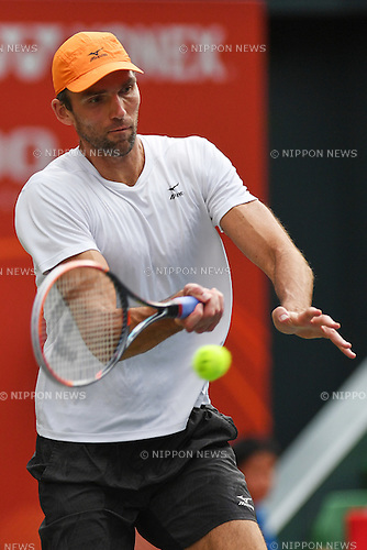 Ivo Karlovic (CRO), <br /> OCTOBER 6, 2016 - Tennis : Rakuten Japan Open Tennis Championships 2016, <br /> the second round match between <br /> Ivo Karlovic - Janko Tipsarevic <br /> at Ariake Coliseum, Tokyo, Japan. <br /> (Photo by AFLO SPORT)