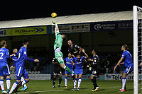 Gillingham goalkeeper, Tomas Holy, palms the ball away to foil a Bury attack during Gillingham vs Bury, Sky Bet EFL League 1 Football at the MEMS Priestfield Stadium on 11th November 2017