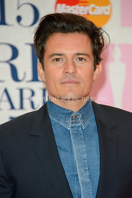 WWW.ACEPIXS.COM<br /> <br /> February 25 2015, London<br /> <br /> Orlando Bloom arriving at the Brit awards 2015 at the O2 Arena on February 25 2015 in London<br /> <br /> By Line: Famous/ACE Pictures<br /> <br /> <br /> ACE Pictures, Inc.<br /> tel: 646 769 0430<br /> Email: info@acepixs.com<br /> www.acepixs.com