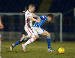 St Johnstone v Inverness Caley Thistle&hellip;09.03.16  SPFL McDiarmid Park, Perth<br />Murray Davidson and Iain Vigurs<br />Picture by Graeme Hart.<br />Copyright Perthshire Picture Agency<br />Tel: 01738 623350  Mobile: 07990 594431