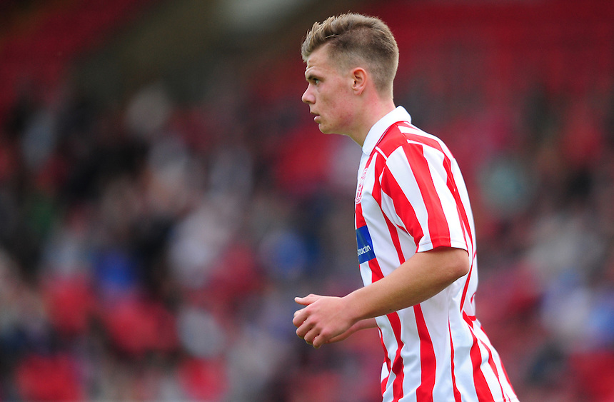 Lincoln City U18's Sam Fewkes<br /> <br /> Photographer Chris Vaughan/CameraSport<br /> <br /> Football - Football Friendly - Lincoln City U18 v Liverpool U18 - Thursday 23rd July 2015 - Sincil Bank - Lincoln<br /> <br /> &copy; CameraSport - 43 Linden Ave. Countesthorpe. Leicester. England. LE8 5PG - Tel: +44 (0) 116 277 4147 - admin@camerasport.com - www.camerasport.com