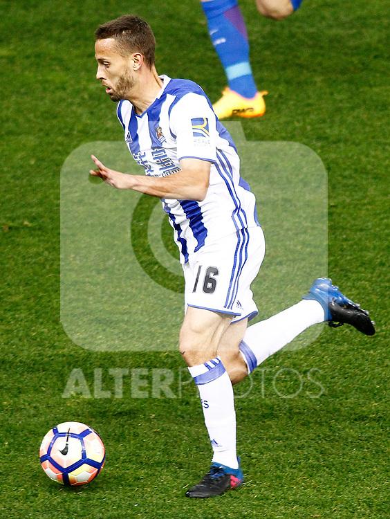 Real Sociedad's Sergio Canales during La Liga match. April 4,2017. (ALTERPHOTOS/Acero)