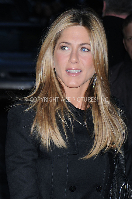 WWW.ACEPIXS.COM . . . . .  ....December 17 2008, New York City....Actress Jennifer Aniston made an appearance at the 'Late Show with David Letterman' on December 17 2008 in New York City....Please byline: KRISTIN CALLAHAN- ACE PICTURESS.... *** ***..Ace Pictures, Inc:  ..tel: (646) 769 0430..e-mail: info@acepixs.com..web: http://www.acepixs.com