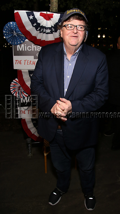 Michael Moore attends the Broadway Opening Night - After Party for 'Michael Moore on Broadway - The Terms Of My Surrender' at Bryant Park Grill on August 10, 2017 in New York City.