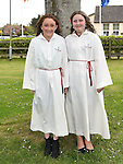 Rhiannon Murray and Hannah Cooling who were Confirmed in the Sacred Heart Church Laytown. Photo:Colin Bell/pressphotos.ie