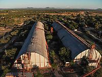 Aerial view of wineries and mills in the ejido La Victoria.<br /> <br /> Vista a&eacute;rea de bodegas y molinos en el ejido la Victoria. <br />  (Foto: Luis Gutierrez / NortePhoto.com)