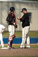 SAN ANTONIO, TX - APRIL 3, 2009: The University of Texas of the Permian Basin Falcons vs. the St. Mary's University Rattlers Baseball at V.J. Keefe Memorial Stadium. (Photo by Jeff Huehn)