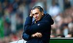 Nederland, Groningen, 7 oktober  2012.Seizoen 2012-2013.Eredivisie.FC Groningen-Feyenoord.Robert Maaskant, trainer-coach van FC Groningen baalt.