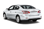 Car pictures of rear three quarter view of2014 Nissan Sentra SV 4 Door Sedan Angular Rear