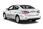 Car pictures of rear three quarter view of2014 Nissan Sentra SV 4 Door Sedan Angular Rear