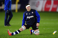 Francois Louw of Bath Rugby looks on during the pre-match warm-up. Aviva Premiership match, between Bath Rugby and Northampton Saints on February 10, 2017 at the Recreation Ground in Bath, England. Photo by: Patrick Khachfe / Onside Images