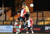 3rd October 2017, The Abbey Stadium, Cambridge, England; Football League Trophy Group stage, Cambridge United versus Southampton U21; Yan Valery of Southampton battles with Harrison Dunk of Cambridge United for a header