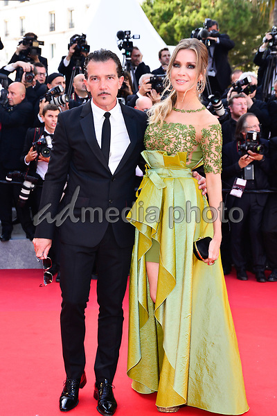 23 May 2017 - Cannes, France -  Antonio Banderas, Nicole Kimpel. 70th Anniversary Cannes Red Carpet Arrivals during the 70th Cannes Film Festival. Photo Credit: JanSauerwein/face to face/AdMedia