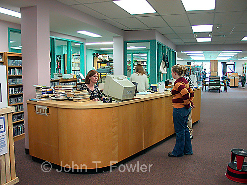 Children, teens and people using library