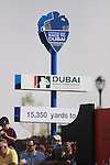 Race to Dubai sign during  Day 3 at the Dubai World Championship Golf in Jumeirah, Earth Course, Golf Estates, Dubai  UAE, 21st November 2009 (Photo by Eoin Clarke/GOLFFILE)