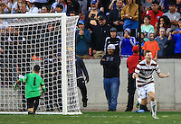 Houston, TX - Sunday, December 11, 2016: Stanford defeated defeated Wake Forest 5-4 in penalty kicks after the game ended in a 0-0 tie during the final of the 2016 College Cup at BBVA Compass Stadium.