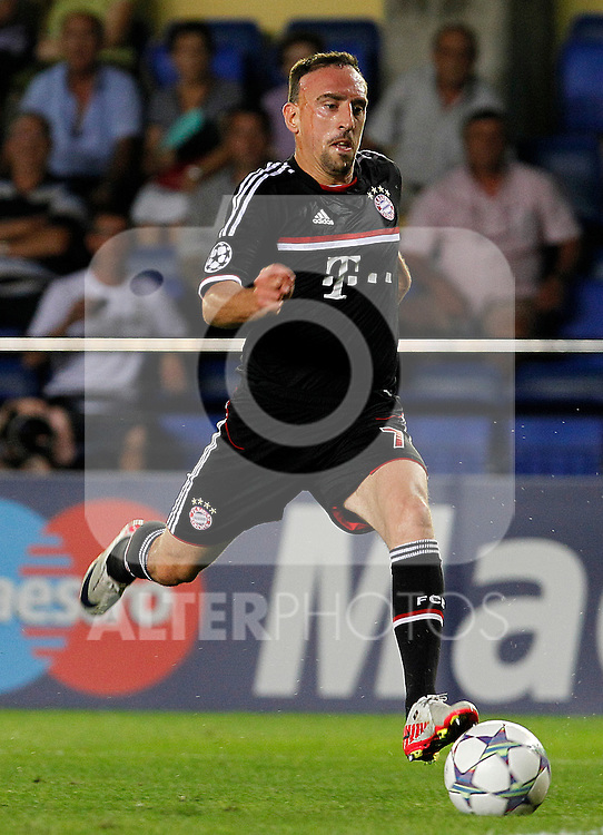 FC Bayern Munchen's Franck Ribery during UEFA Champions League match.September 14,2011.(ALTERPHOTOS/Acero)